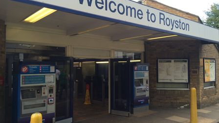 Police were called to Royston station on Saturday after a man allegedly exposed himself on a train.