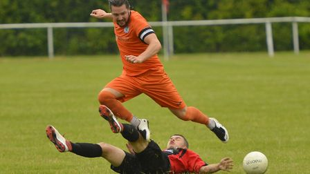 St Ives Town captain Robbie Parker during their Hunts Premier Cup win at Huntingdon Town. Picture: D