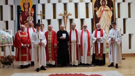 A celebratory Mass for Brother Clement given by Brother Nelson was held on his birthday at St Columb