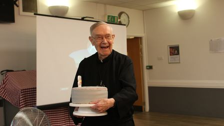Brother Clement on his 90th birthday.