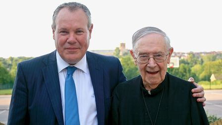 Conor Burns MP joined Brother Clement on his 90th birthday.