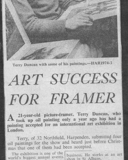 Herts Ad articles about Terry Duncan and his partner Dena Bryant. Terry passed away in May 2019. Pic