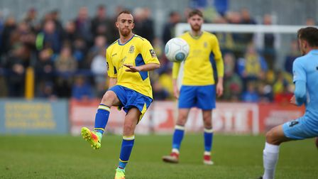 Scott Shulton in action for St Albans City against Torquay United last season. Picture: DANNY LOO