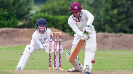 Ben Rowbotham at the crease for Huntingdon & District in their win at Blunham. Picture: MARTYN ROWBO