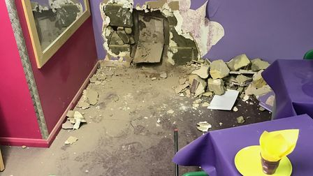 Big Space, Harpenden, was broken into and burglars tore down walls to play rooms. Picture: Lester Ad