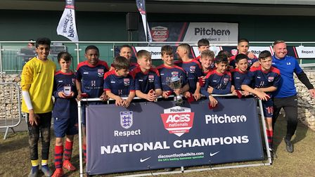 London Colney Colts U13 Reds have picked up an incredible seven trophies after going unbeaten all se
