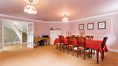 The dining room is on the lower ground floor. Picture: Michael Graham