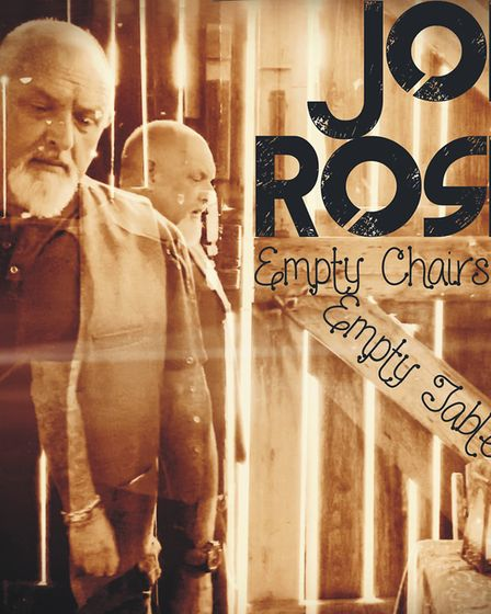 The cover of Joe Rose's new single Empty Chairs at Empty Tables.