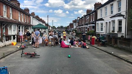 Burnham Road residents held a street party in honour of murdered MP Jo Cox.