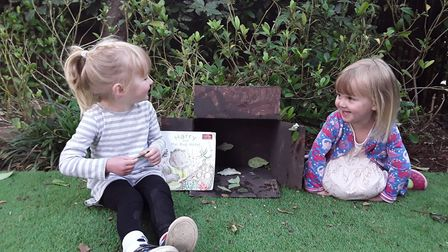 Children at Grasshoppers Day Nursery in St Albans created a bug hotel to encourage insect life. Pict