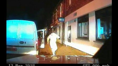 Jacob Williams was shown to have no insurance on his Vauxhall Combo van through automatic number pla