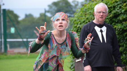 Breakaway Theatre Company's open-air production of The Tempest in St Albans. Caliban, played by Dar