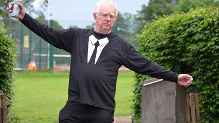 Breakaway Theatre Company's open-air production of The Tempest in St Albans. Roy Bookham as Stephano