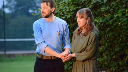Breakaway Theatre Company's open-air production of The Tempest in St Albans. Maude Collins-Pallet as