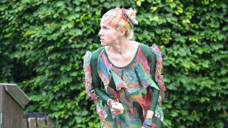 Breakaway Theatre Company's open-air production of The Tempest in St Albans. Darya Berger as Caliban