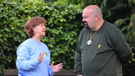Breakaway Theatre Company's open-air production of The Tempest in St Albans. Jill Hardman as Antonio