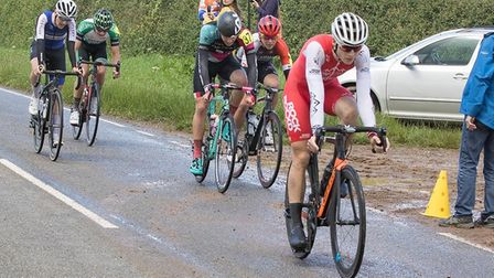 Adam Strudwick was second for RockandRoad-Ellisix Cycling Team at the Team MK ROad Race. Picture: JU