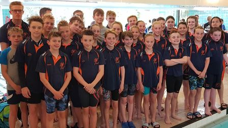 The St Ives Swimming Club squad which won the Mendis Trophy event at Wisbech. Picture: SUBMITTED