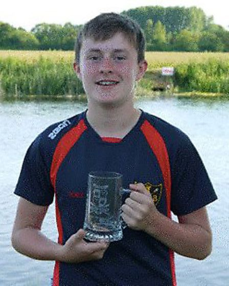 Toby Ray triumphed in the J13 single sculls. Picture: SUBMITTED