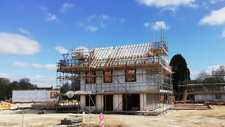 The scheme is expected to be completed in late summer and the homes are now being marketed.