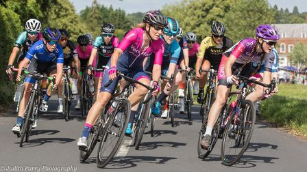 Verulam Reallymoving's Liz McKie leads the women's race (pic Judith Parry Photography)