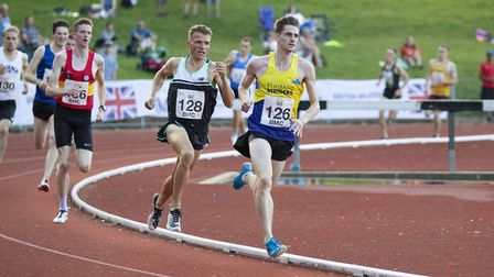 St Albans Striders James McMurray at the BMC meeting in Watford (pic Graham Smith)