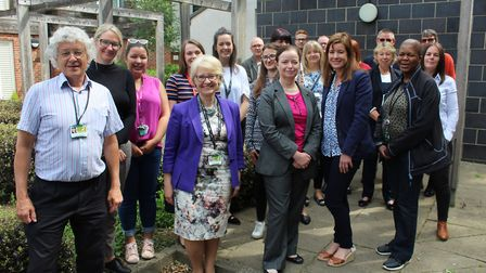 At the opening ceremony of the new St Albans care home. Picture: HCC