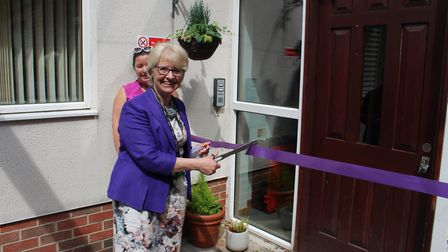 Cllr Teresa Heritage opens the new St Albans care home. Picture: HCC