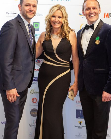 Hosts Neil Barrass-Smith of Total Legacy Care, Sue Wybrow of TBC St Albans and Popdance, and David J