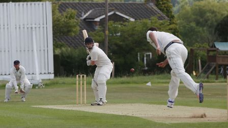 Ed Wharton batting for Reed. Picture: Danny Loo