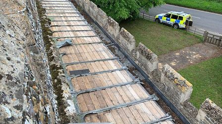 Lead has been stolen from the Church of St Mary in Whaddon. Picture: Cambs police