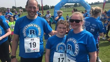 Royston in Blue 2019 on Therfield Heath. Picture: Courtesy of Teenage Cancer Trust/Royston in Blue