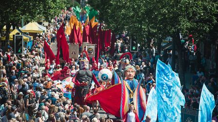 Thousands gathered in St Albans city centre for the Alban Pilgrimage. Picture: Emma Collins Photogra