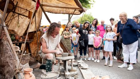 Families enjoyed live music and Roman-themed activities at the annual Alban Street Festival in St Al
