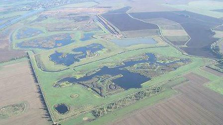 An archive shot of Needingworth quarry from the air. Picture: CONTRIBUTED