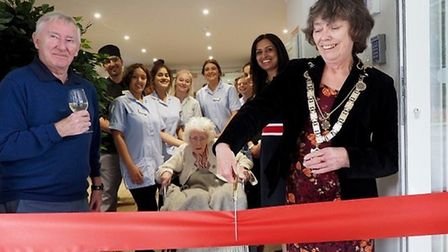 St Albans Mayor Cllr Janet Smith cut the ribbon at the ceremony to mark the official opening of Alba