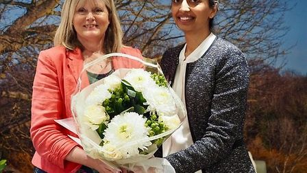 MP Anne Main attended the ceremony to mark the official opening of Alban Manor Nursing Home in St Al