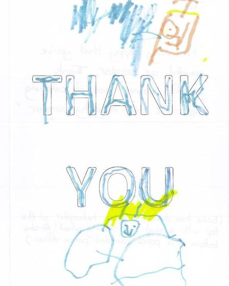 St Albans police officers were sent handwritten thank you cards from children in St Albans after the