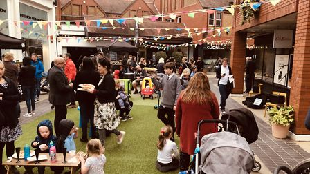 Christopher Place summer street food festival in St Albans,