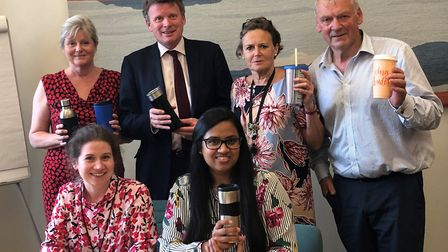 St Albans MP Anne Main met with representatives from Starbucks to learn what they are doing to reduc
