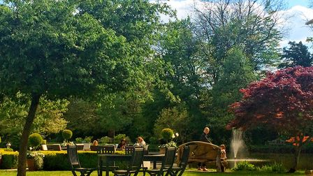 The garden at St Michael's Manor in St Albans is perfect for eating al fresco. Picture: Becky Alexan