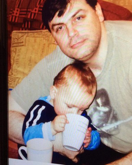 Lee Pomeroy pictured with his son when he was still a toddler. Picture: Karen Blackaby