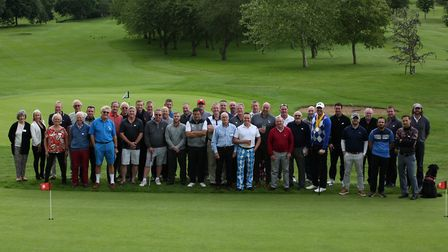 Golfers at the Wheels for MartinÕs Friends charity golf day held at John O Gaunt Golf Club in Biggle
