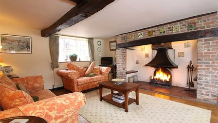 There is an inglenook fireplace in the sitting room. Picture: John Curtis