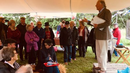 Will Garfit giving a talk at the Red Cross Open Gardens event. Picture: philip Paxman