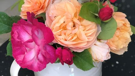 Debbie loves to display flowers from her garden in her home. Picture: Debbie McMorran