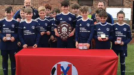 Needingworth Colts Under 13s completed a treble last season. Picture: SUBMITTED