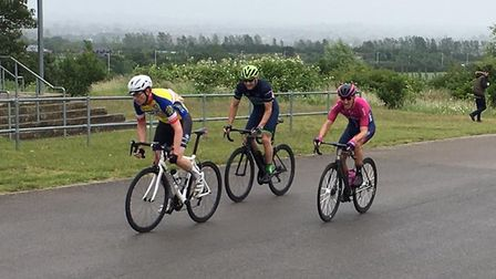 Verulam Reallymoving's Issy Zimmerman joins the break at Hog Hill.