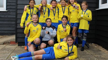 St Albans City Youth U11 Girls North were runners up at the Berkhamsted Tournament after losing on p