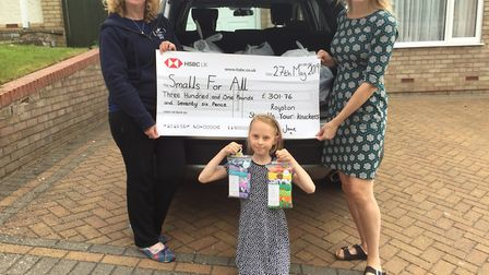 Christine Brown and Jane Wallington have thanked the community after funds and underwear were donate